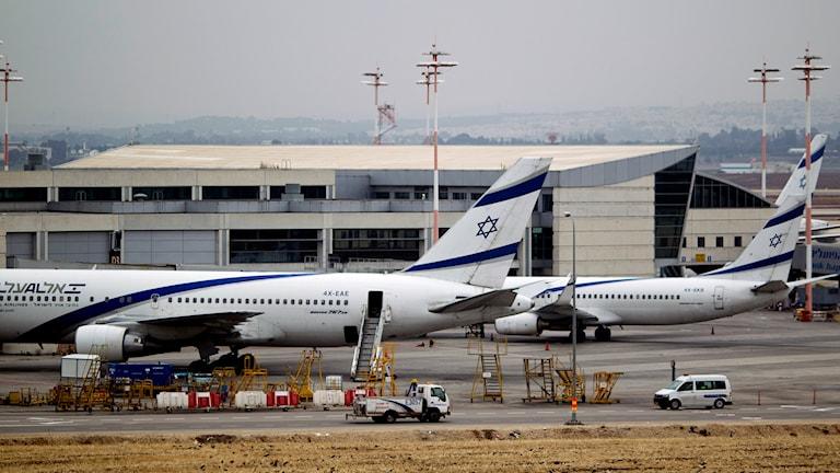 Ben Gurion-flygplatsen i Tel Aviv.