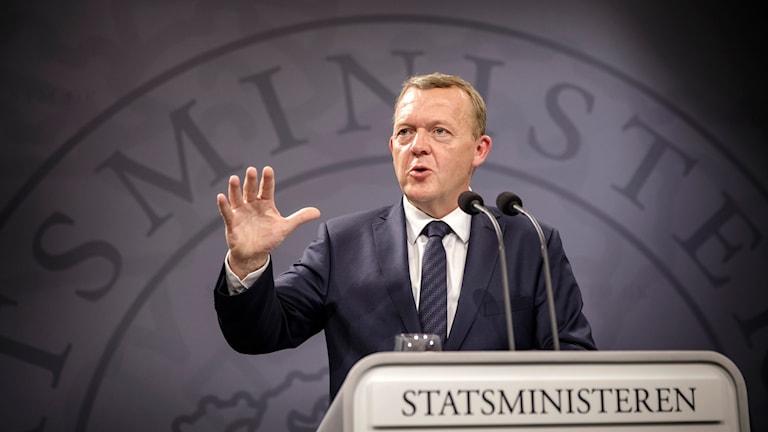 Danmarks statsminister Lars Lökke Rasmussen från liberala partiet Venstre. Foto: Sanne Vils Axelsen/TT