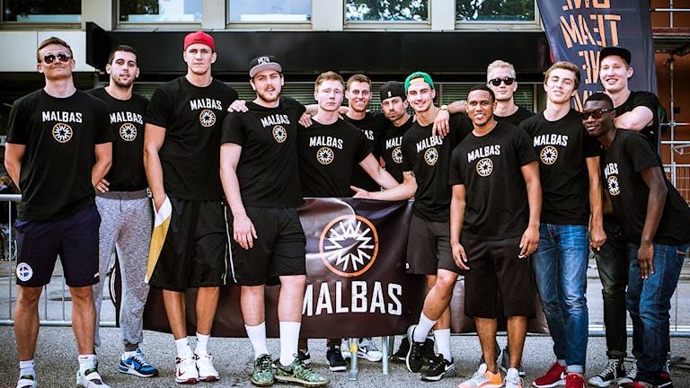 Malbas lag inför säsongen i Basketligan 2015/16. Foto: Mattias Berglund