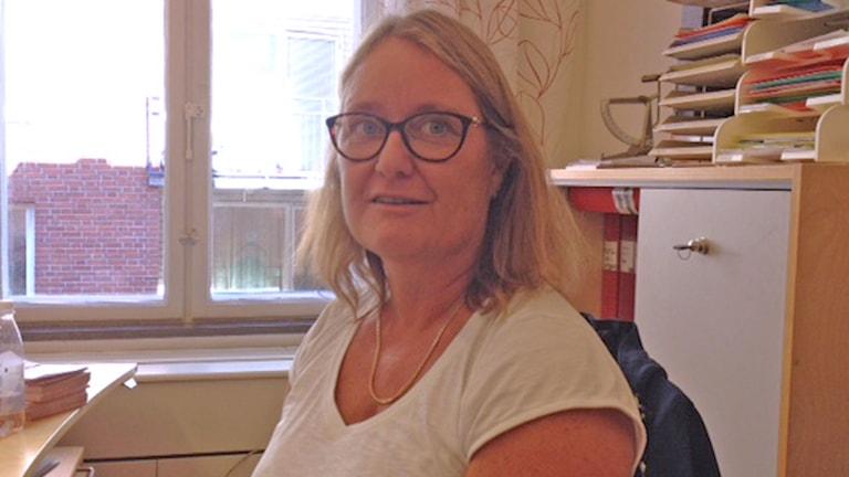 Catharina Niwhede, Lärarnas riksförbund i Malmö. Foto: Jonathan Hansen/Sveriges Radio