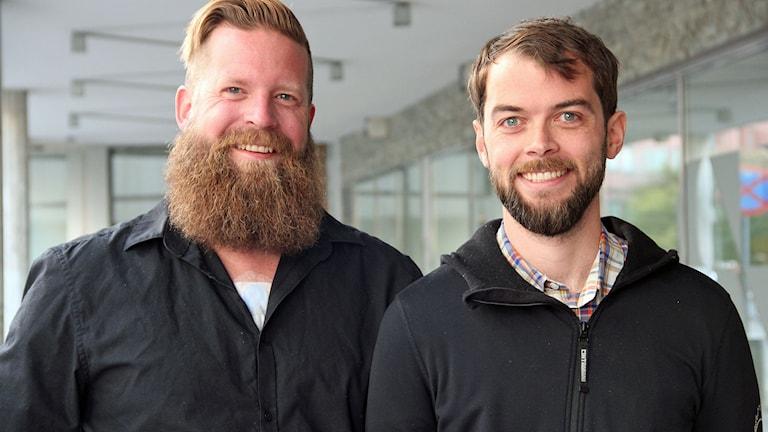 Lars Lyberg och Finnur Sverrisson är initiativtagare till projektet Litte Big Malmö. Foto: Jenny Cederbom/Sveriges Radio