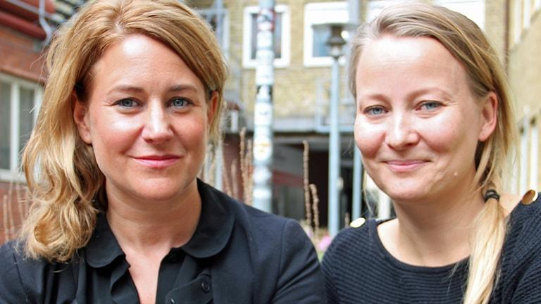 Beatrice Janzon och Anna Landelius. Foto: Gun Bergbring