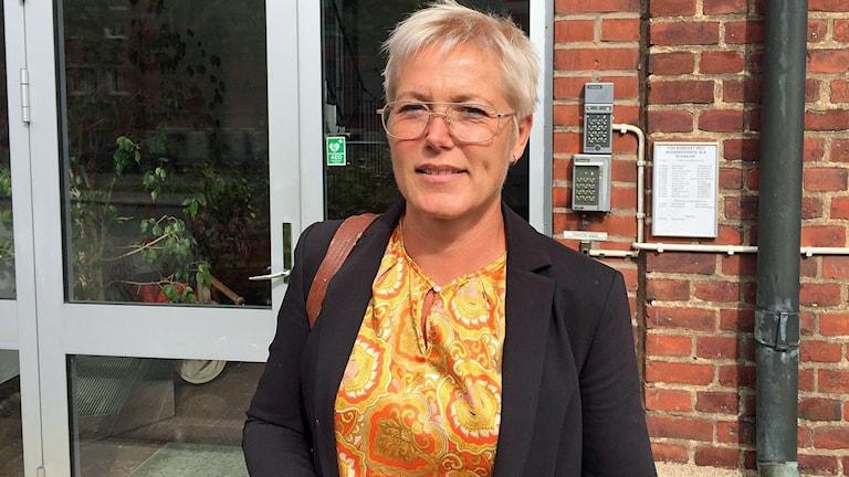 Cecilia Lejon är chef för arbetsmarknadsförvaltningen i Trelleborg. Foto: Jonathan Hansen/Sveriges Radio