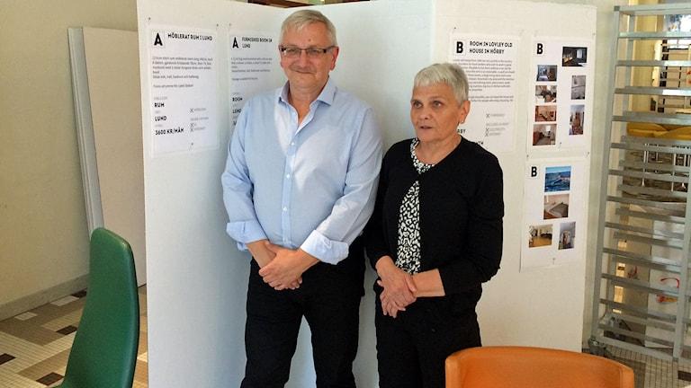Tomas och Ann Streling är två av dem som vill hyra ut ett rum till studenter i Lund. Foto: Madeleine Fritsch-Lärka/Sveriges radio