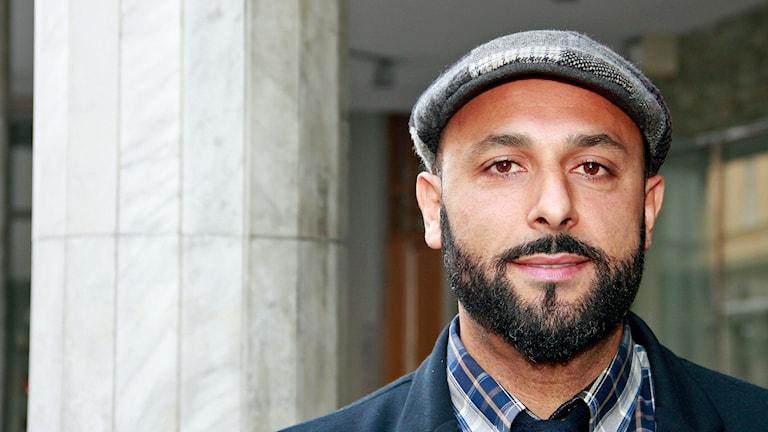 Hamed Salama, familjebehandlare i Helsingborg och politiker på kommun- och regionnivå för Miljöpartiet. Foto: Hans Zillén/Sveriges Radio