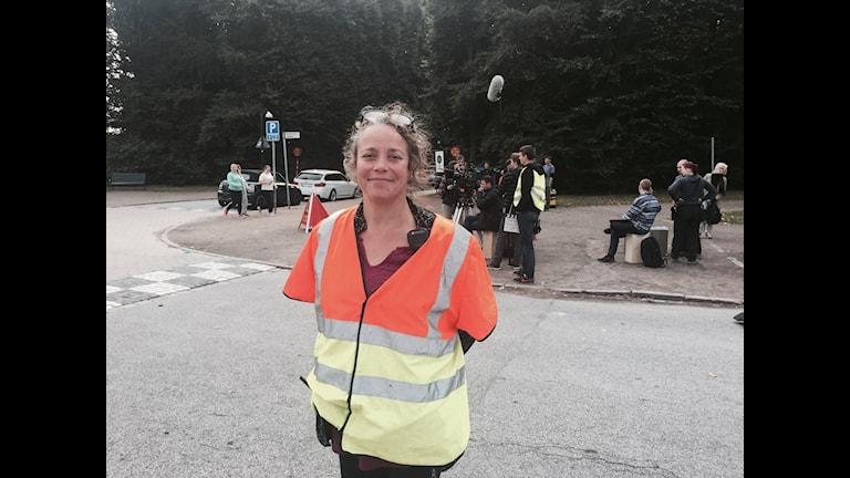 Filmens svenska producent China Åhlander. Foto: Kajsa Nordmark