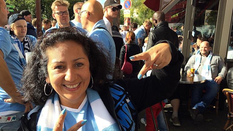 Tammy Jara från Malmö är på plats. Foto: Madeleine Fritsch-Lärka