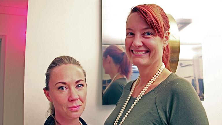 Lisa Nordström och programledare Lisa Wall. Foto: Lina Sundahl Djerf