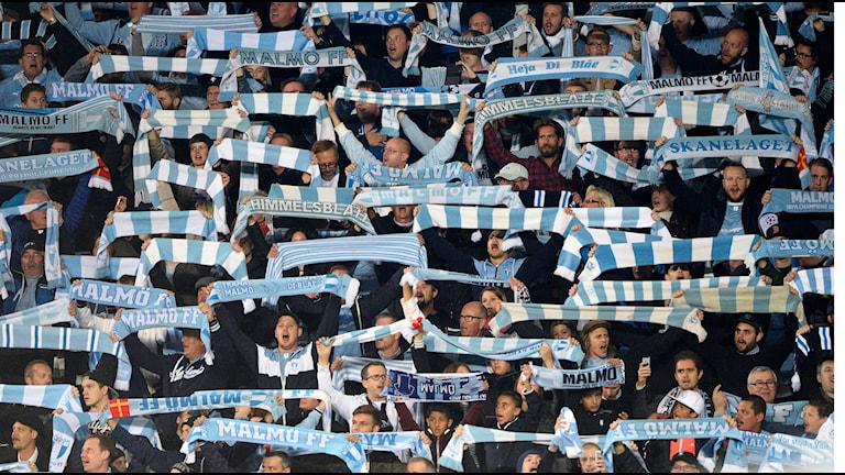 MFF-fans. Foto: Anders Wiklund/TT
