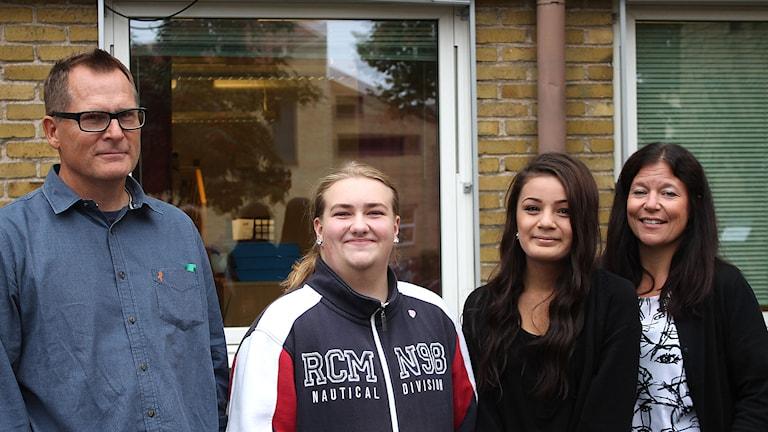 Kenneth Göransson, Andreas Garver, Marika Rydle och Petra Larsson. Foto: Malin Thjelin/Sveriges Radio