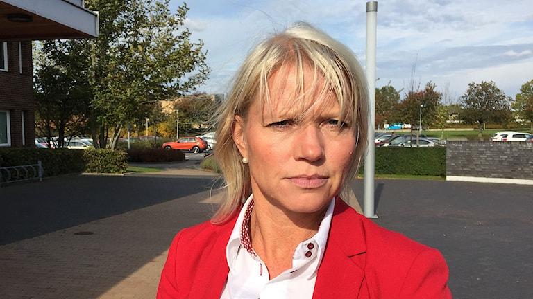 Carina Wutzler (M), ordförande för kommunstyrelsen i Vellinge. Foto: Jonathan Hansen/Sveriges Radio