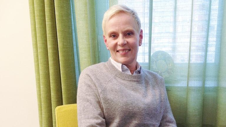 Pirkko T Kyllönen, auktoriserad tolk och medgrundare av Språkservice Foto: Nadia Jebril/Sveriges Radio
