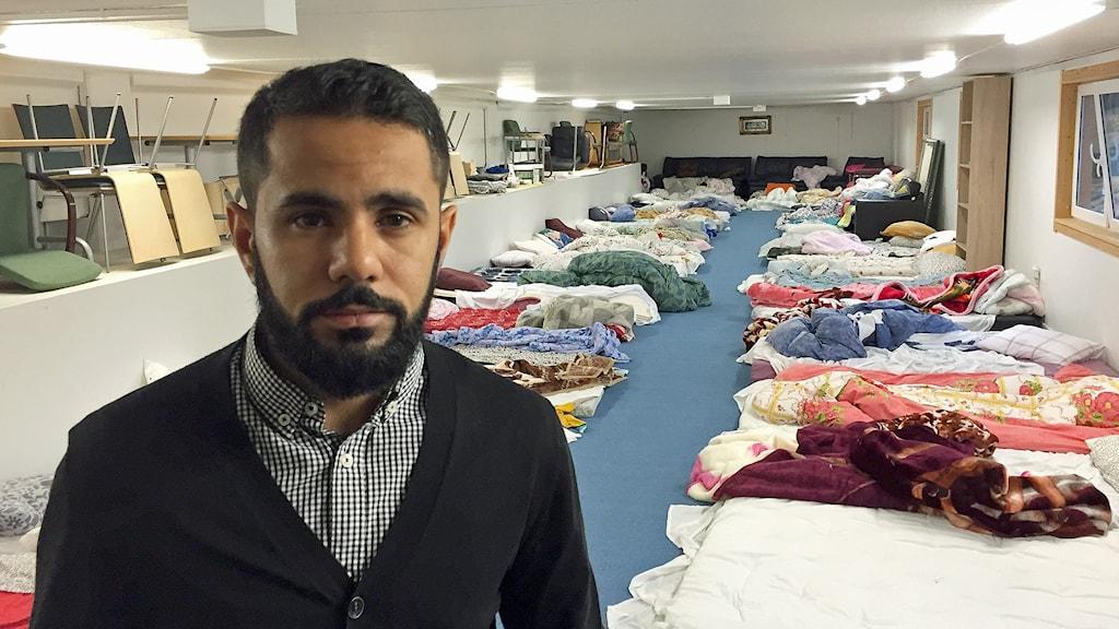 Abdullah Ali, volontär, Muslimska församlingen Foto: Anton Kalm/Sveriges Radio