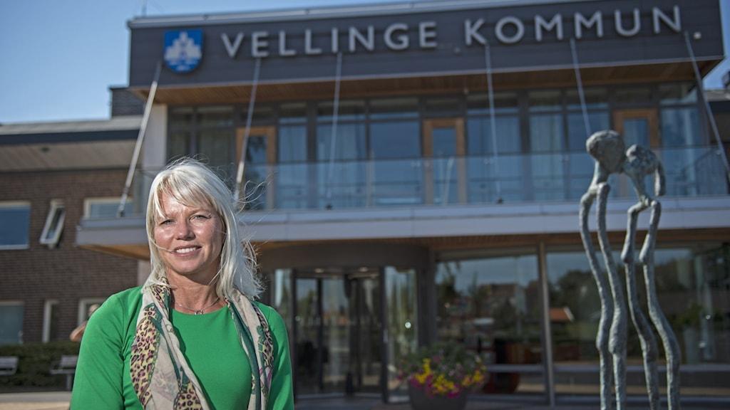 Kommunstyrelsens ordförande Carina Wutzler (M) i Vellinge kommun.