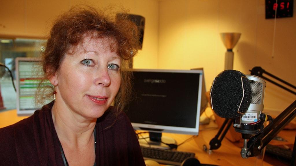 Etnologen Charlotte Hagström vid Lunds universitet forskar om cykelns betydelse. Foto: Johanna Hellström/Sveriges Radio