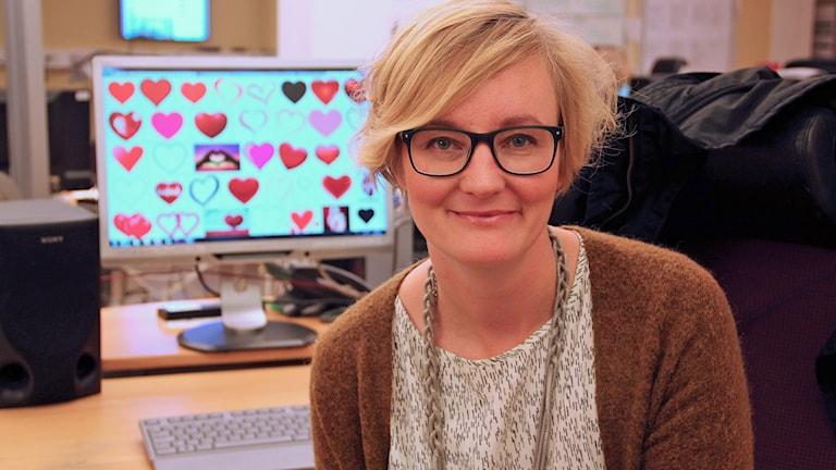 Kristin Heinonen är internetstrateg. Foto: Jenny Cederbom/Sveriges Radio