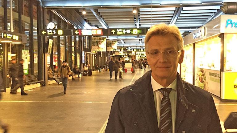 Migrationsverkets generaldirektör Anders Danielsson på Malmö C. Foto: Anton Kalm/Sveriges Radio