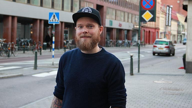 Joel Lindqvist, Head Pastry Chef på Malmö Live. Foto: Lars Ekman/Sveriges Radio