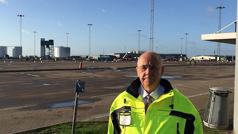 Tommy Halén, vd Trelleborgs-hamn. Foto: Anton Kalm/Sveriges Radio
