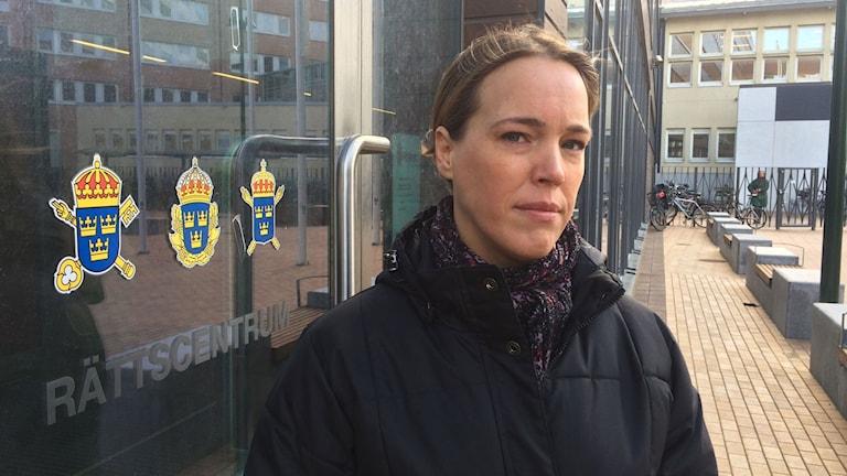 Sophia Willander, ordförande i Polisförbundet Region Syd. Foto: Dimitri Lennartsson