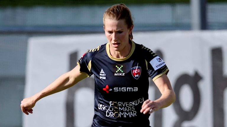 Emma Berglund, landslagsback i FC Rosengård. Foto: Sören Andersson/TT