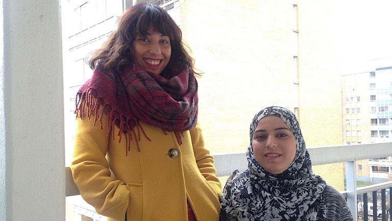 Sahab Saheb Mohamad, Tegelhuset i Rosengård och Sonia Nawaz, ABF. Foto: Özgür Karlidag/Sveriges Radio