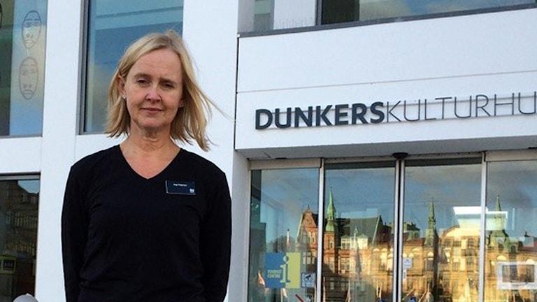 Anja Petersen, museipedagog vid Dunkers kulturhus i Helsingborg. Foto: Nina Sköldqvist/Sveriges Radio