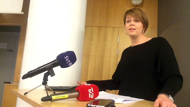 Malmös kommunalråd Katrin Stjernfeldt Jammeh. Foto: Dimitri Lennartsson/SR
