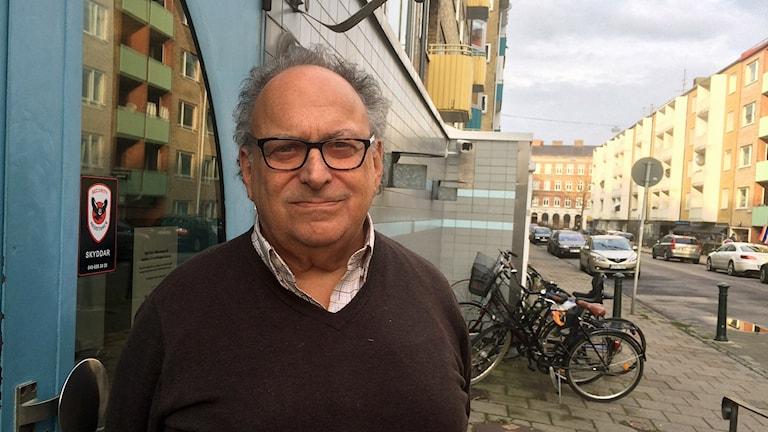 Freddy Gellberg, vice ordförande i judiska församlingen i Malmö. Foto: Dimitri Lennartsson/Sveriges Radio