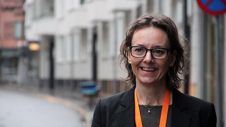 Erika Augustinsson, kommunikationsanvsarig på Mötesplats för Sociala Innovationer. Foto: Lina Sundahl Djerf/Sveriges Radio