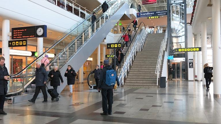 Knutpunkten, Helsingborg, trappan upp mot färjeavgångar. Foto: Karin Olsson-Bendix/Sveriges Radio