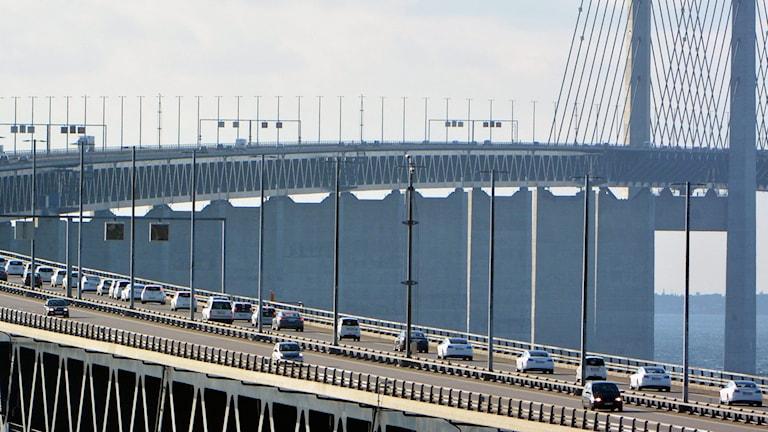 Bilar på väg att köra över Öresundsbron. Foto: Johan Nilsson/TT
