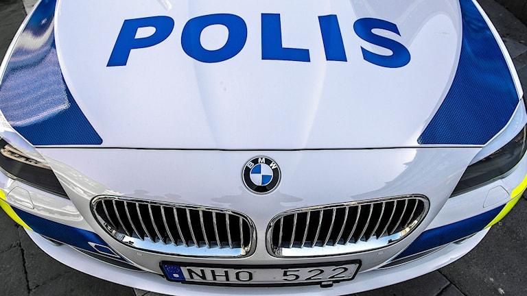 Polisbil, en BMW 5 -serie. Foto: Tomas Oneborg/TT