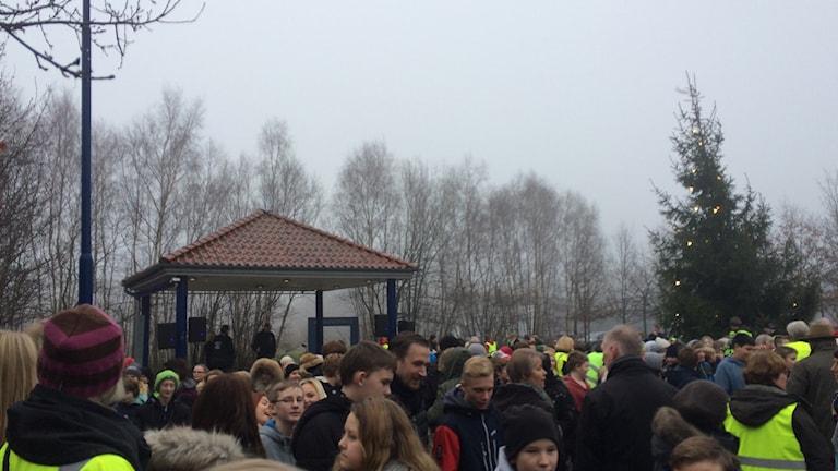 Manifestationen i Ekeby lockade många.