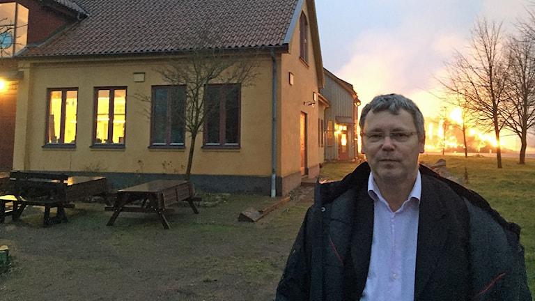 Örjan Liebendörfer är rektor på Lunds Waldorfskola. Foto: Anton Kalm/Sveriges Radio