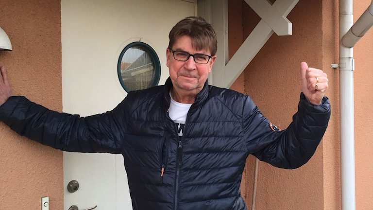 Nu kan Lars Holst i Svedala begära ersättning för fasadbyte. Foto: Anton Kalm/Sveriges Radio