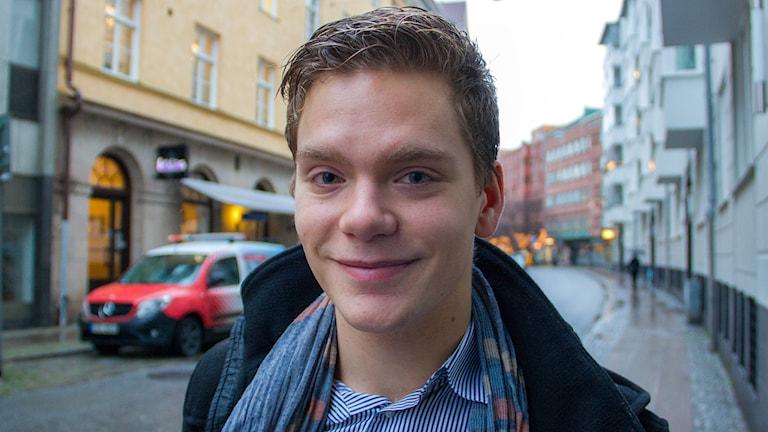 Alexander Ohlsson från Viken gör Youtubesuccé med a capellakör från Oxford. Foto: Karin Olsson-Bendix/Sveriges Radio
