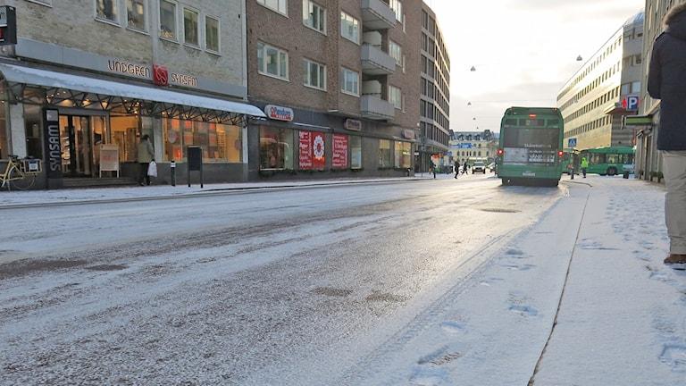 Glashal gata mitt i Malmö. Foto: Karin Olsson-Bendix/Sveriges Radio