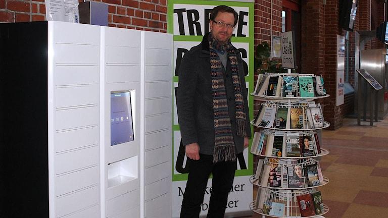Michael Nordberg, bibliotekschef i Trelleborg. Foto: Malin Thelin/Sveriges Radio