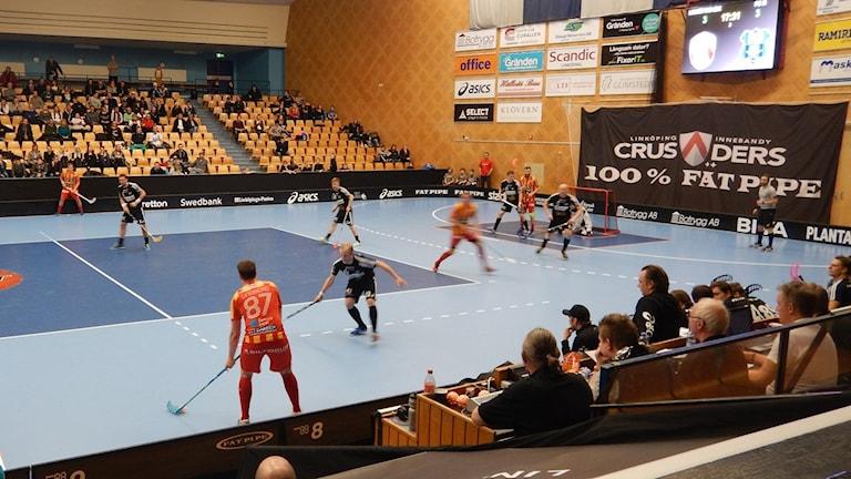 FC Helsingborg i anfall i superligamatchen borta mot Linköping. Foto: Albin Falk Hansson/Sveriges Radio