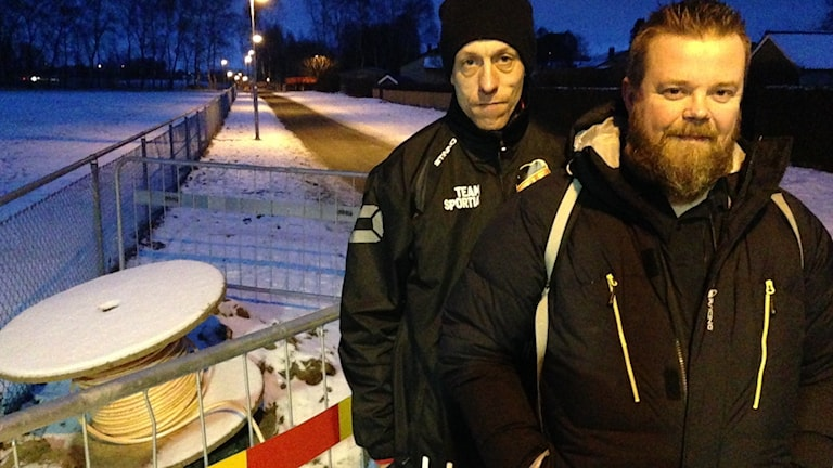 Jens Ridell och Lennart Johansson vill inte ha stadsnätet.