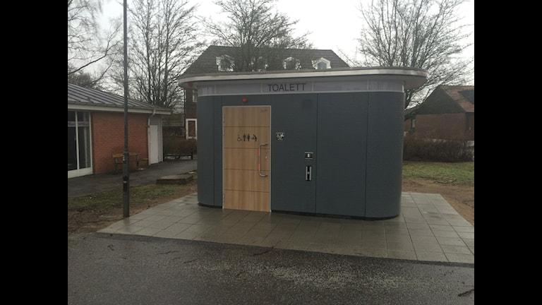 Veberöds offentliga toalett från utsidan