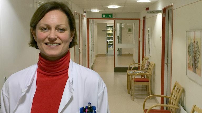 Cecilia Persson, verksamhetschef för vårdcentralen Svalöv. Foto: Petra Haupt/Sveriges Radio
