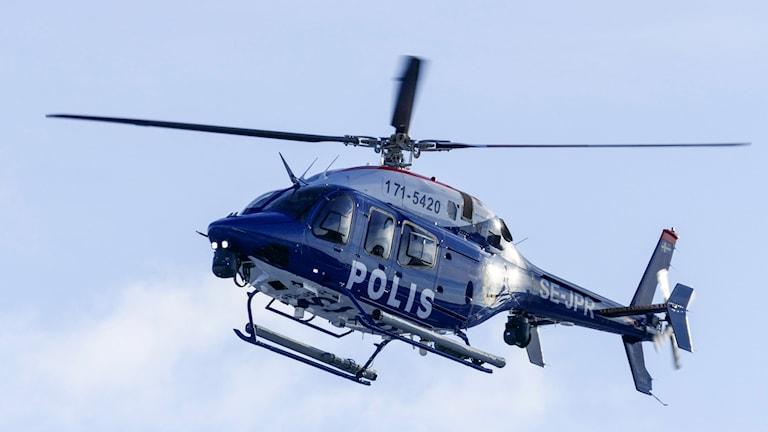 En av polisens nya helikoptrar av typen Bell 429 stationeras i Malmö. Foto: Johan Nilsson/TT