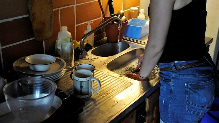 Kvinna diskar