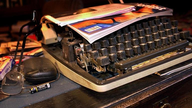 Skrivmaskin. Teknik åldras snabbt. Foto: Jurek Holzer/TT
