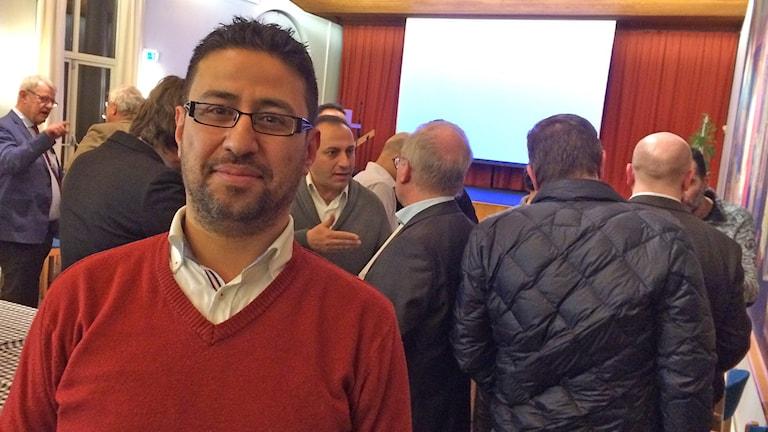 Mohammad Marouf Hamesh, nyanländ kirurg som hoppas få en svensk läkare som mentor. Foto: Petra Haupt/Sveriges Radio