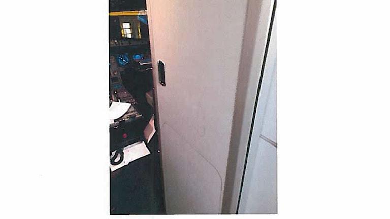 Den insparkade dörren till flight deck