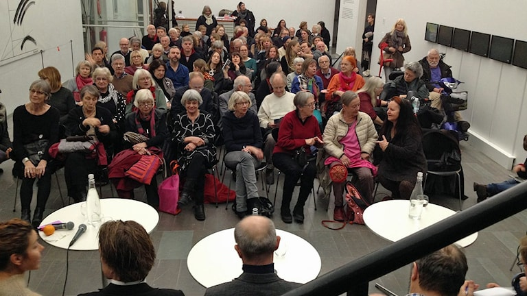 Debatt i Lund om konsthallens framtid. Foto: David Richter/Sveriges Radio