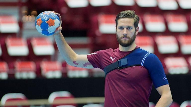 Anders Hallberg, handbollsspelare som är tillbaka i Lugi. Foto: Drago Prvulovic/TT